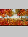 Peint a la main Abstrait Paysage A fleurs/Botanique Paysages Abstraits Horizontale,Moderne Style europeen Un Panneau ToilePeinture a