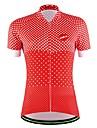 Sportif Maillot de Cyclisme Femme Homme Unisexe Manches courtes VeloRespirable Sechage rapide Permeabilite a l\'humidite Poche arriere