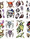 1 Tatouages Autocollants Series de totem Motif Bas du Dos ImpermeableHomme Femme Adulte Adolescent Tatouage TemporaireTatouages