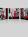 toile set / Unframed Toile Paysage / A fleurs/Botanique Modern,Trois Panneaux Toile Carre Imprimer Art Decoration murale For Decoration