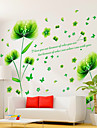 Botanique / Romance / Nature morte Stickers muraux Stickers avion / Stickers muraux 3D Stickers muraux decoratifs,PVC MaterielAmovible /