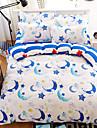bedtoppings couette couverture couette couette 4pcs definir la taille de la reine feuille plate impressions taie lune microfibre