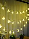 100-ledda 10m snö ljus vattentät plugg utomhus jul semester dekoration ljus ledde sträng ljus
