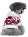 Câini Haine Pulovere Roșu Negru Îmbrăcăminte Câini Iarnă Primăvara/toamnă Fulg zăpadă Clasic Keep Warm