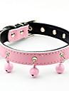 Hundar Halsband Trumpet Solid Röd / Svart / Blå / Rosa Genuint läder