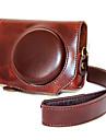 dengpin® retro avtagbar PU läder kameraväska bak skal med axelrem för Canon Powershot G7 x g7x