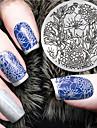 2016 dernier modele la version la mode fleur ongles art plaques de modele d\'image estampage