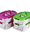 husgeråd plastmultifunktions matbehållaren inställd med handtag (1.15l1.15l) * 2p