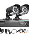 twvision 4ch hdmi 960h CCTV dvr videoövervakning recorder 1000tvl utomhus vattentäta kameror CCTV-system