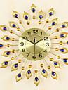 Rond / Nouveaute Moderne/Contemporain / Retro Horloge murale,Fleurs / Botaniques / Personnages / Paysage / Mariage / Famille Verre / Metal