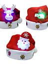 3pcs / cadeaux lot noel noel luminescence chapeaux enfants chapeau enfant paragraphe decalcomanies noel de bande dessinee casquettes