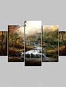 Unframed Toile Paysage Modern,Cinq Panneaux Toile Toute Forme Imprimer Art Decoration murale For Decoration d\'interieur