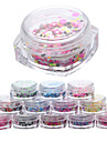 12pcs Nail Art Decoration strass Perles Maquillage cosmetique Nail Art Design