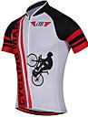 Sport Cykeltröja Herr Kort ärm CykelAndningsfunktion / Snabb tork / Anatomisk design / Ultraviolet Resistant / Dragkedja fram /