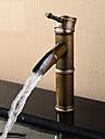 Nutida / Antik / Moderna Centerset Vattenfall with  Keramisk Ventil Singel Handtag Ett hål for  Antik koppar , Badrum Sink kran