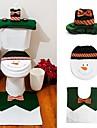 1 set lycklig snowman jul badrum in toalettsitsen täcka matta Garneringxmas år adornos de navidad kampanjer
