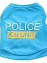 Chat Chien Tee-shirt Vetements pour Chien Ete Police/Militaire Mignon Decontracte / Quotidien Noir Rouge Rose Bleu Rose