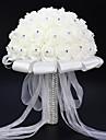 1 1 Une succursale Polyester Roses Fleur de Table Fleurs artificielles 25(9.84\'\')