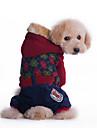 Hundar Huvtröjor Röd / Grön Hundkläder Vinter Enfärgat Mode / Ledigt/vardag / Sport