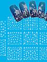11PCS Nail Sticker Art Autocollants de transfert de l\'eau Maquillage cosmetique Nail Art Design