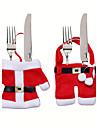 jul bordsdekorationer kniv och gaffel påse jul bestick små kläder weihnachten Dekoration gåvor
