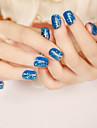 24pcs / set bandes de clous bref paragraphe mode paillettes bleu sexy