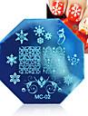 1 pcs theme noel image modele de timbre d\'art d\'ongle plaque ne assez ongles estampage plaques