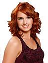 court brun vague boucles et des perruques de couleur synthetiques mixtes jaunes pour les femmes