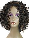 style de la mode afro ondes boucles couleur mixte perruques synthetiques noir et brun pour les femmes
