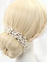 Femei Aliaj Imitație de Perle Diadema-Nuntă Cordeluțe