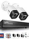 sannce 1.0mp 720p 4ch hd 4 in1 TVI H.264 DVR / utomhus CCTV säkerhet kamerasystem