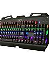 USB clavier mecanique / Clavier de jeu USB axe vert retro-eclairage multi-couleurs X-7000