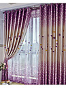 Två paneler Fönster Behandling Modern , Hjärtan Vardagsrum Polyester Material Mörkläggning Gardiner draperier Hem-dekoration For Fönster