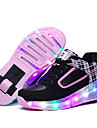 Fille-Exterieure Decontracte Sport-Noir Rose-Talon Bas-Confort Light Up Chaussures-Baskets-Cuir