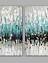 Peint a la main Abstrait Peintures a l\'huile,Modern / Realisme Deux Panneaux Toile Peinture a l\'huile Hang-peint For Decoration
