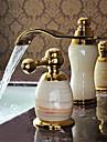 Contemporain Diffusion large Cascade with  Valve en ceramique Deux poignees trois trous for  Ti-PVD , Robinet lavabo