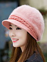 Rabbit Fur Cap Autumn And Winter Fashion Solid Color Yuba Bei Lei Warm Knitted Wool Cap