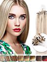neitsi 20 \'\' 50g raka mikro ring loop länkar ombre mänskliga hårförlängningar 1g / s 100% remy hår