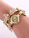 pentru Doamne Ceas Elegant Ceas La Modă Ceas Brățară Ceas de Mână Quartz Plin de Culoare Aliaj BandăVintage Sclipici Fluture Boem Charm