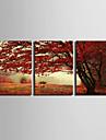 canvas Set Landskap Europeisk Stil,Tre paneler Kanvas Vertikal Print Art väggdekor For Hem-dekoration
