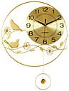 Moderne/Contemporain Niches Horloge murale,Rond Acrylique / Aluminium / Metal 55*40CM Interieur Horloge