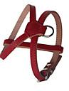 Hundar Selar Justerbara/Infällbar Handgjord Solid Röd Svart Brun Genuint läder