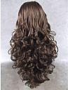 imstyle 26\'\'natural ser populära mörkbruna långvåg syntetiska spetsar front peruker hög kvalitet med hög värmetålig