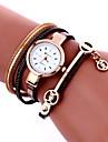 Femme Montre Tendance Montre Bracelet Bracelet de Montre Quartz Colore Polyurethane Banderetro Boheme Charme Bracelet Cool Pour tous les