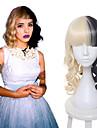 melanie martinez perruque blonde et moitie noir Culy moyen cosplay perruques longues parti perruques de femmes resistance thermique sia