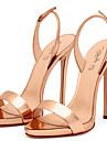 Damă Sandale Primăvară Vară Toamnă Pantof cu Berete PU Nuntă Birou & Carieră Rochie Casual Party & Seară Toc Stiletto CataramăAuriu Negru