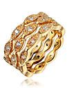 Inel Zirconiu Cubic Placat Auriu 18K de aur Auriu Alb Bijuterii Nuntă Petrecere Zilnic Casual 1 buc