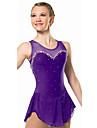 Robe de Patinage Femme Sans manche Patinage Robes Haute elasticite Robe de patinage artistique Respirable / Confortable Dentelle