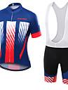 Sport Cykeltröja med Bib-shorts Unisex Kort ärm CykelAndningsfunktion / Snabb tork / Damm säker / Bärbar / Kompression / Back Pocket /