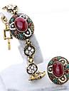 Bijoux 1 Bracelet / 1 Bague Zircon cubique Decontracte 1set Femme Dore Cadeaux de mariage